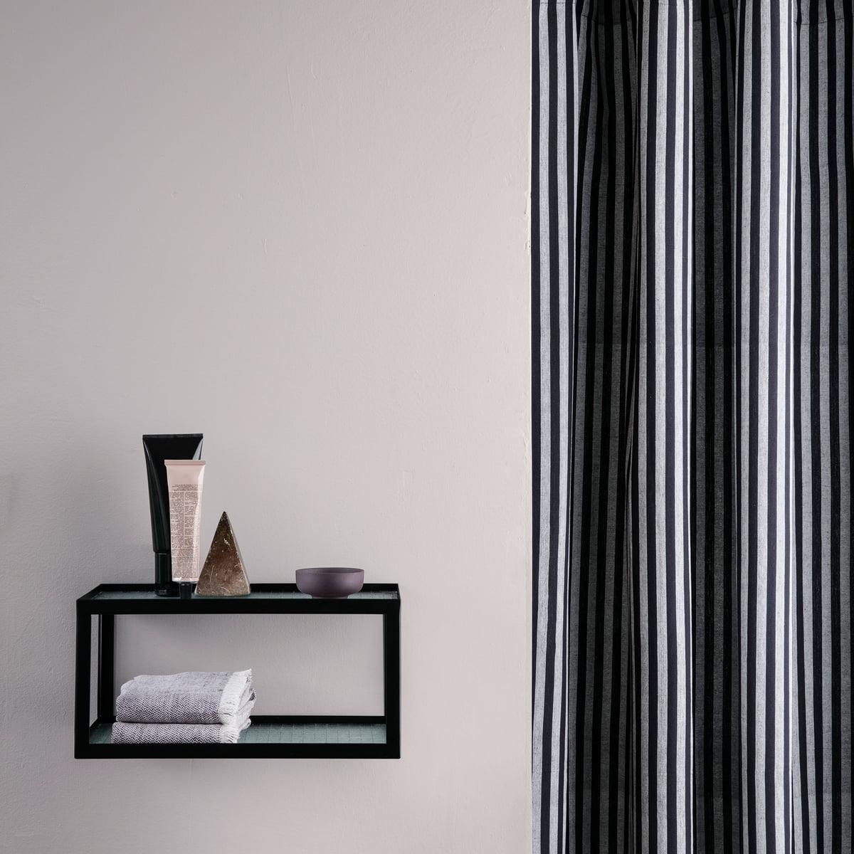 rideau de douche chambray de ferm living connox. Black Bedroom Furniture Sets. Home Design Ideas