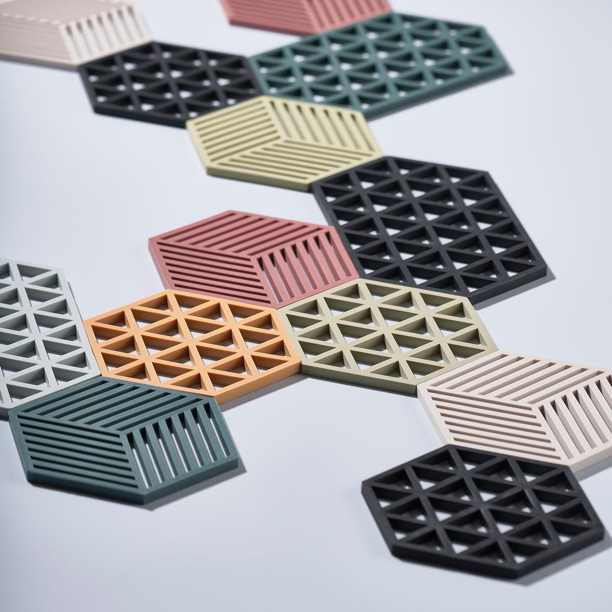 Dessous de Plat Design Triangles Silicone Gris Zone Denmark cadeau ...