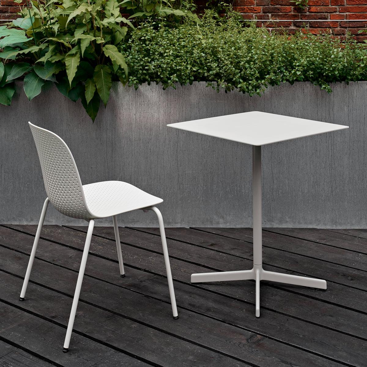 Table Pour Balcon Étroit hay - table neu, 60 x 60 cm, gris clair