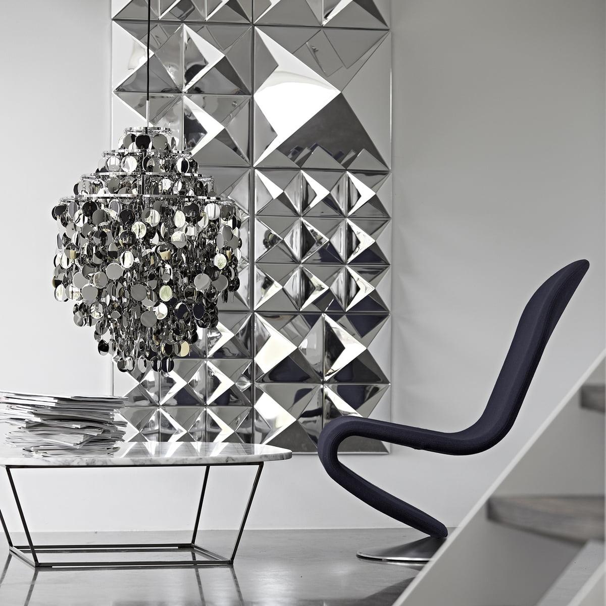 sculpture murale miroir verpan. Black Bedroom Furniture Sets. Home Design Ideas