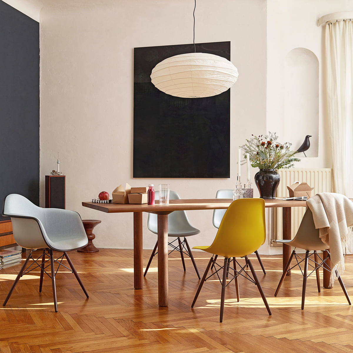 Chaise Vitra - Eames Plastic Side Chair DSW