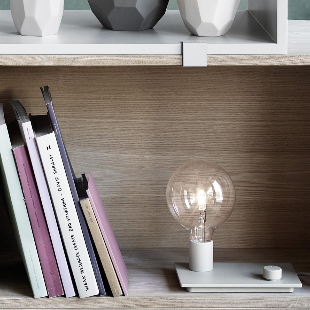 Muuto Lampe de table de contrôle LED, blanc