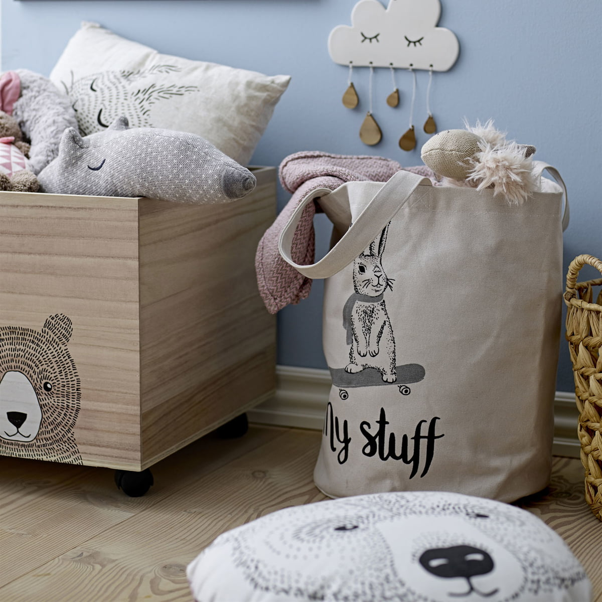 bloomingville panier de rangement pour enfants connox. Black Bedroom Furniture Sets. Home Design Ideas