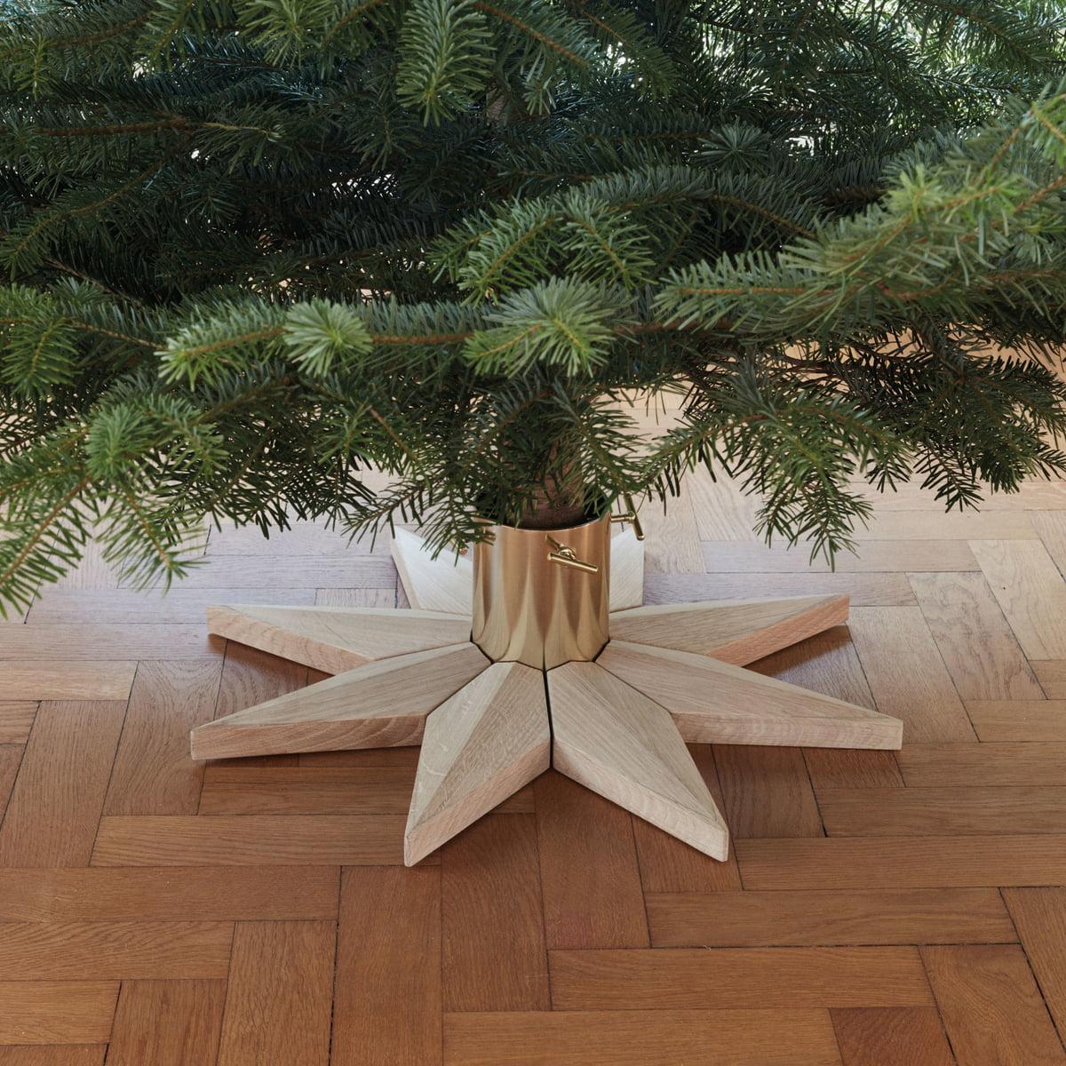 Deco Pied De Sapin skagerak - support pour arbre de noël stella, chêne
