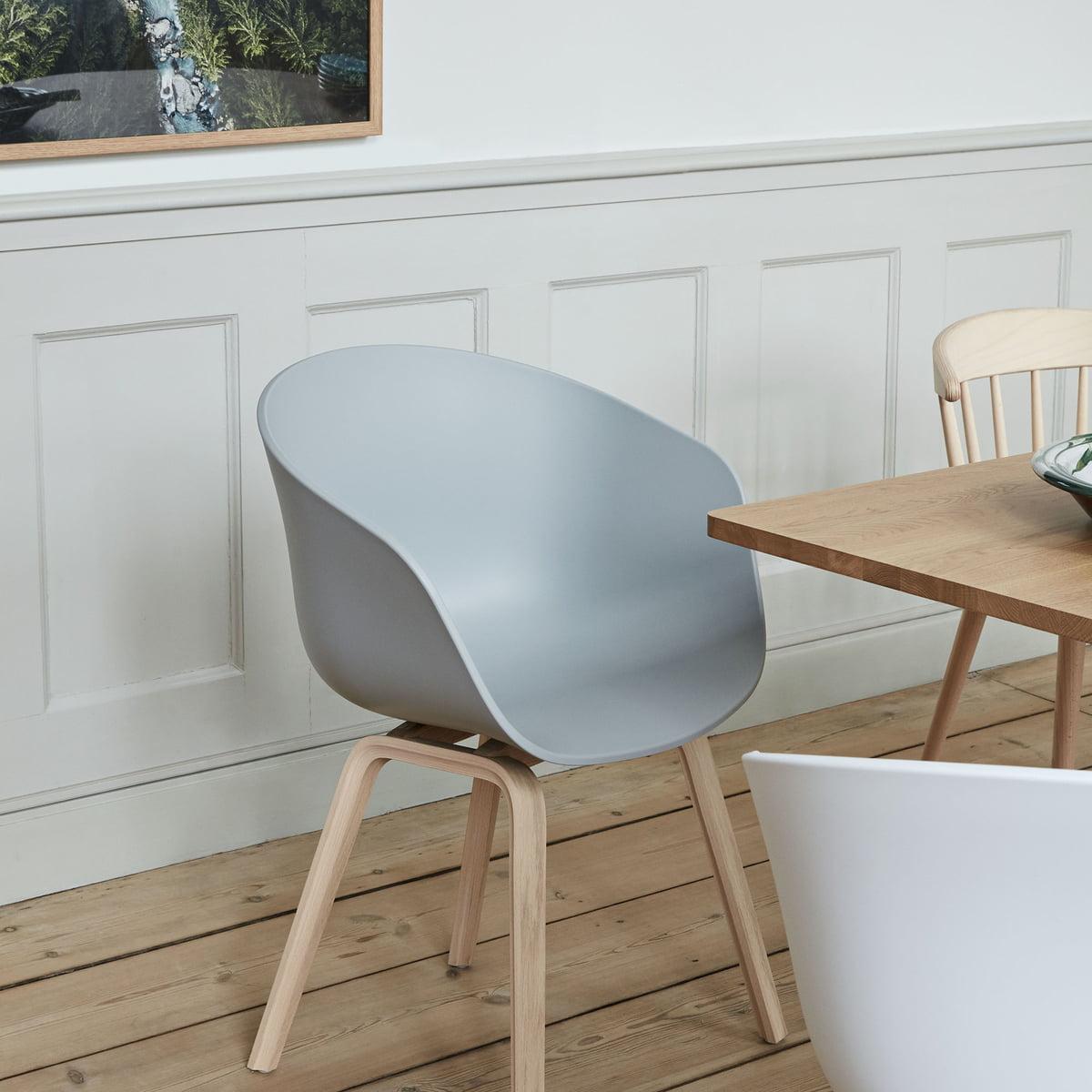 Hay About a chair aac 22, chêne savonné blanc