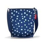reisenthel - Sac à bandoulière shoulderbag S, bleu marine à pois