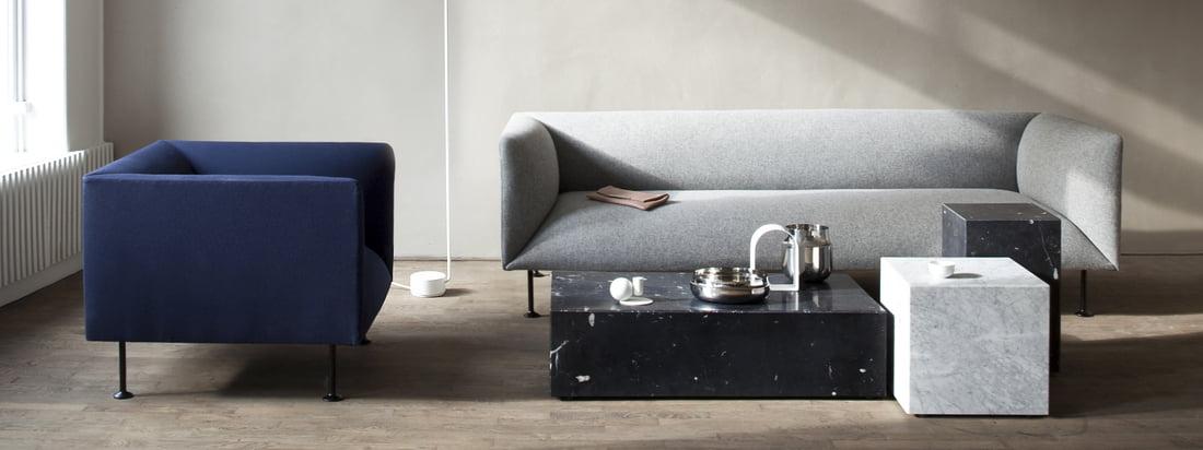 Menu Design stellt hochwertige und innovative Produkte mit skandinavischem Design her. Artikel, wie der Afterroom Stuhl oder die Bottle Salz- und Pfeffermühle, sind wahre Bestseller.