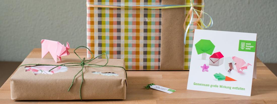 Dons cadeaux de la Welthungerhilfe - En-tête