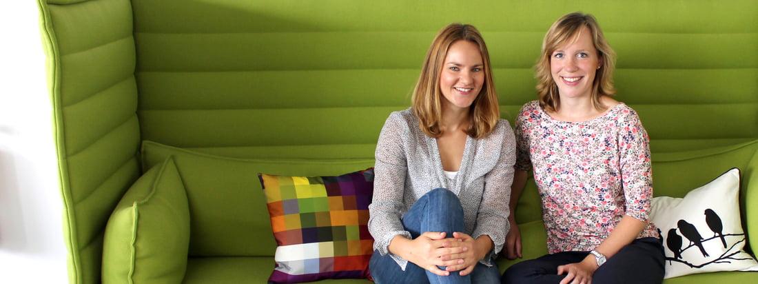 Anja et Sabrina s'occupe du design-blog de Connox. Sabrina travaillent dans la gestion des produits tandis que Anja vient du marketing.