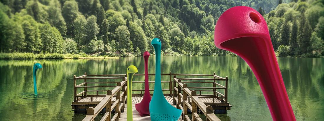 Écumoire Mamma Nessie et louche Nessie d'Ototo en beaucoup de couleurs différentes