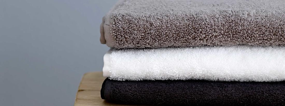 Södahl - Serviette Comfort, noir, blanc et gris