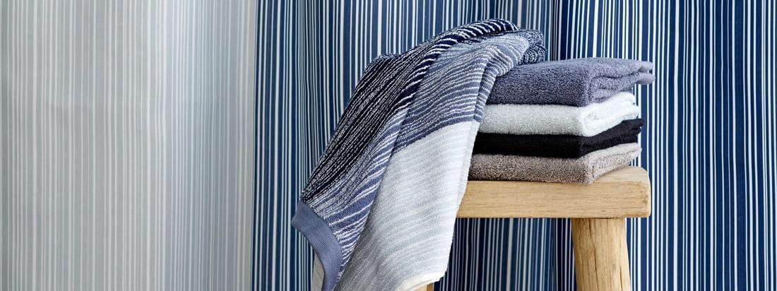 Södahl - Gradient shower curtain and towel, blue