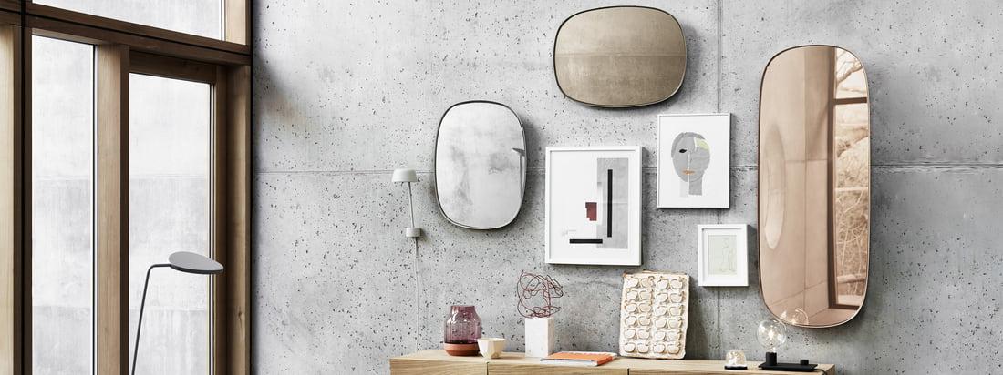 Flashsale - ConnoxPlus - Reflektiert: Spiegel für aufregende Raumwirkung - Muuto - Framed Mirror Klein