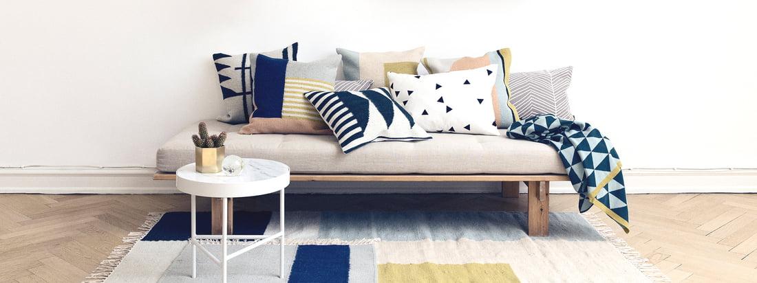 Herringbone coussin de ferm living sur le canapé - Salon - tapis