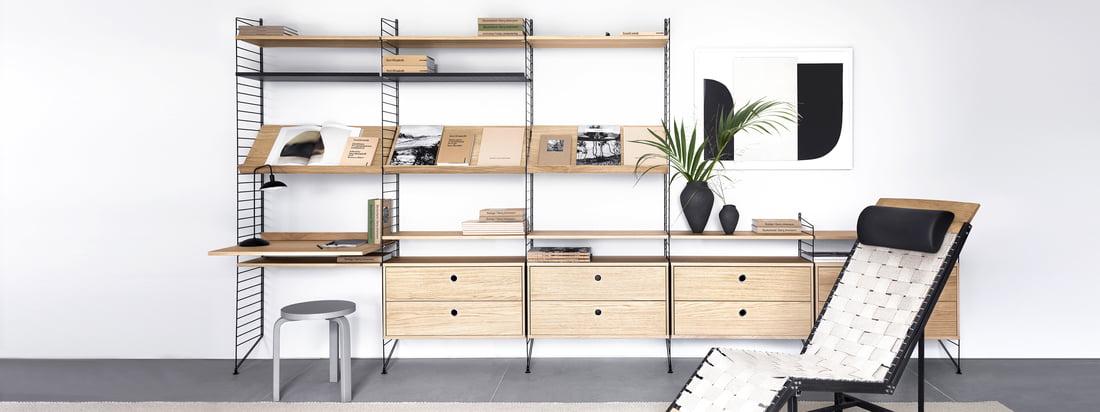 Ficelle - Série de fabricants - Système d'étagères - Informations sur le produit - En-tête de la bannière