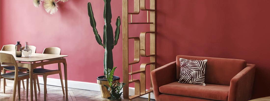 Le paravent de red edition est un élément décoratif de séparation d'espace et va particulièrement bien avec les meubles de la collection Fifties par red edition rouge.