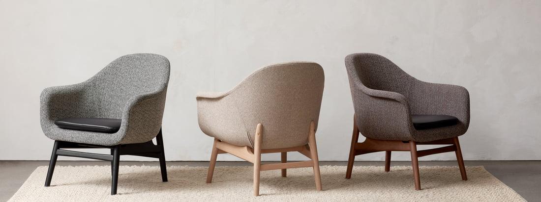 Que ce soit ensemble ou séparément, les chaises de la collection Harbour de Menu se combinent à merveille et offrent une assise idéale de la salle à manger au bureau.