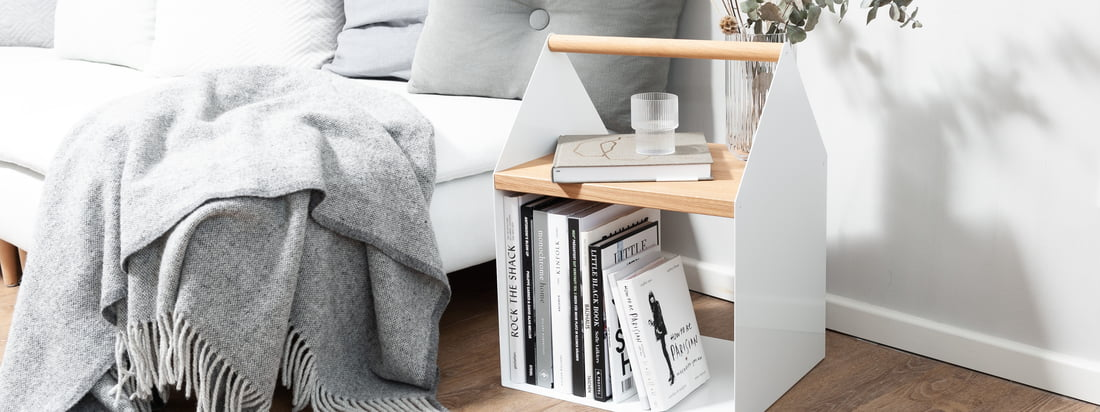 yunic - Table d'appoint de Tiny House, blanche