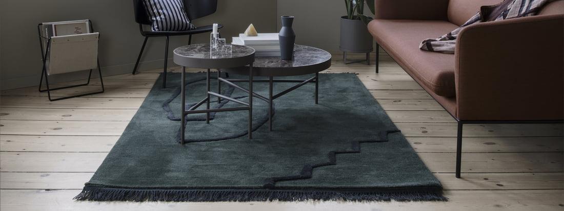 Les couleurs ton sur ton de la moquette Desert Tufted de Ferm Living expriment la simplicité du tapis, tandis que les nuances contemporaines s'imposent d'elles-mêmes.
