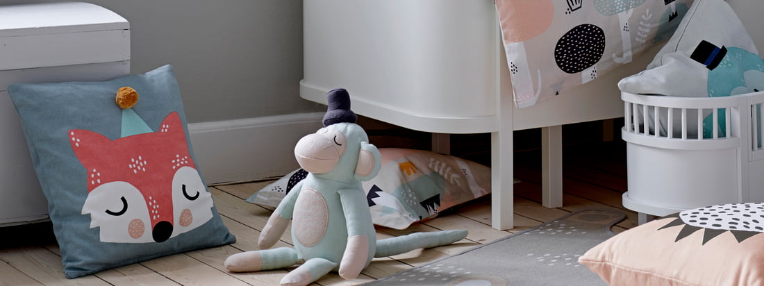 En collaboration avec l'illustratrice et designer Michelle Carlslund, Södahl a développé la collection Kids . Tous les produits sont fabriqués en coton doux.