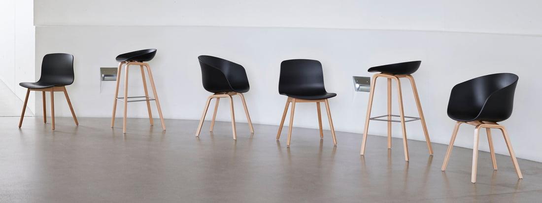 La série About A Chair du studio de design danois Hay est l'une des séries de sièges les plus connues et les plus populaires au monde. La série About A Eco de Hay va maintenant plus loin : du polypropylène (PP) recyclé est utilisé pour la production.