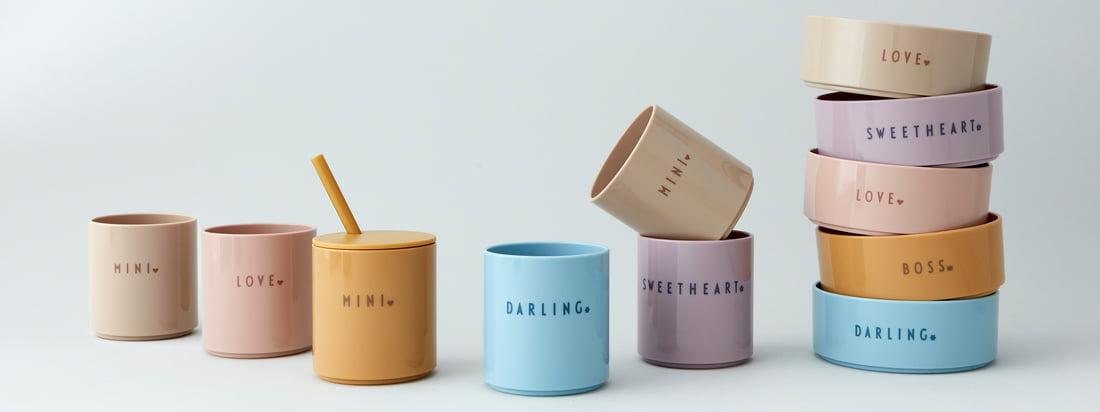 DARLING, SWEETHEART ou MINI - les gobelets à bonbons en Tritan, sans polluant, résistant à la rupture et très durable, assurent un aspect de verre et un toucher noble.