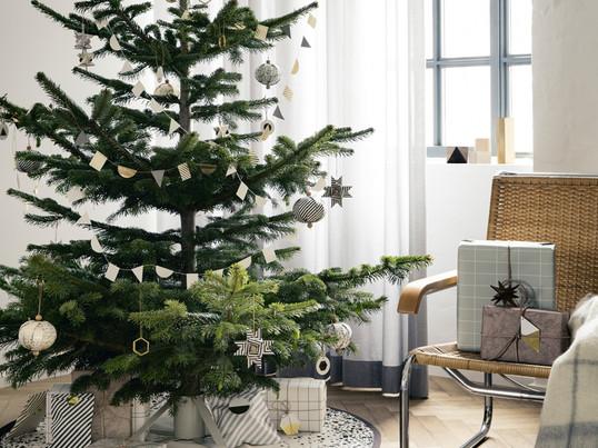 Étendard produits de Noël, ambiance