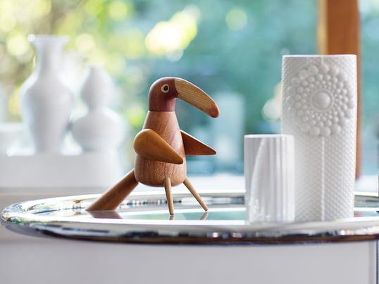 L'oiseau-poivrière The Pepper Bird de Spring Copenhagen est un véritable accroche-regard. Lorsque vous tournez la tête de l'oiseau, le broyeur se met en marche et moud soigneusement le poivre.