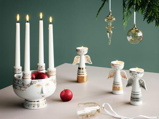 Le bougeoir Lucia par Bjørn Wiinblad fait office de bougeoir pour quatre bougies et de coupe. En outre, il est une belle alternative à la couronne de l'avent classique.