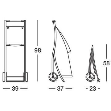 Magis - Chariot de marché Garçon, dimensions