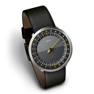 Botta-Design - Uno 24 noir / bracelet cuir