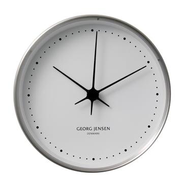 Henning Koppel horloge murale ø22cm - Acier inoxydable  / blanc