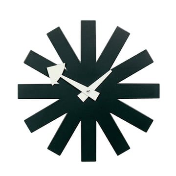 Asterisk Clock noir