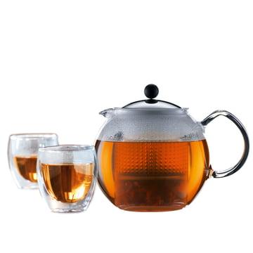 Set de thé Assam de Bodum (théière à piston et verres) offre promotionnelle!