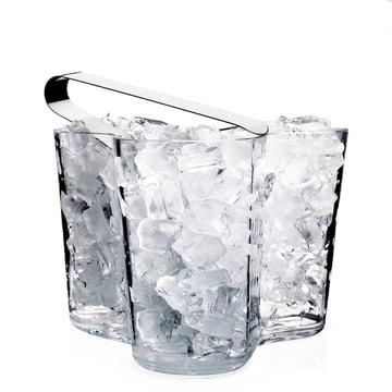 Alvar Aalto Vase transparent avec glaçons