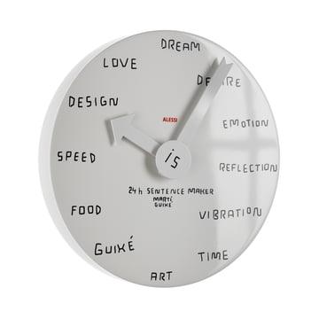 Alessi - Horloge murale 24h Sentence Maker