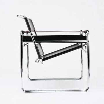 Knoll - Chaise Wassily - Cuir de bovin, noir