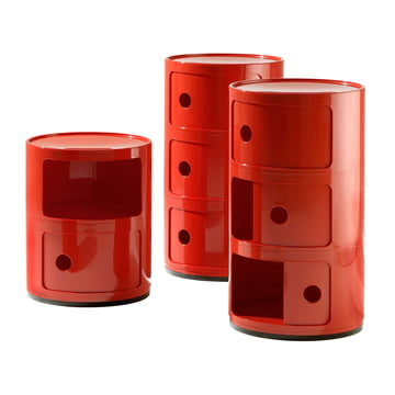 Kartell - Componibili - Groupe, rouge