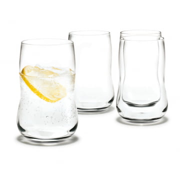 Holmegaard - Verres Future 37 cl, transparent - lot de 4