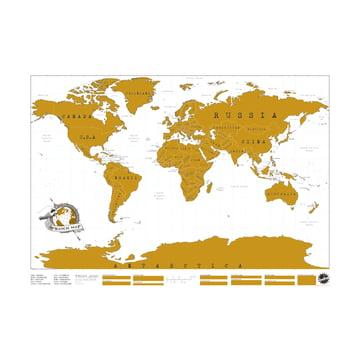 Luckies - Scratch Map carte à gratter librement