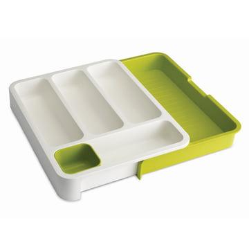 Joseph Joseph - insert de tiroir extensible, blanc / vert