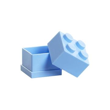 Lego - Mini-Box 4, bleu clair - ouvert