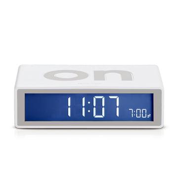 Lexon - Flip LCD-Réveil, blanc