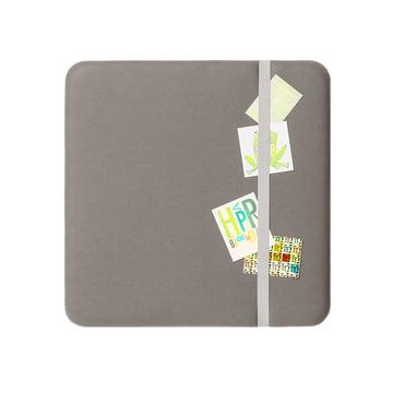 Cascando - Panneau Pillow avec tablette (P = 15cm), 80x80cm, gris clair