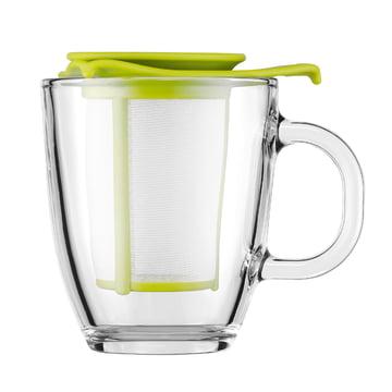 Bodum - Set Yo-Yo - Tasse en verre, filtre en plastique 0,35 l, citron vert