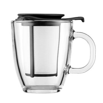 Bodum - Set Yo-Yo - Tasse en verre, filtre en plastique 0,35 l, noire