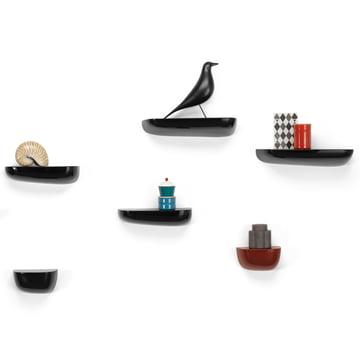 Vitra - Corniches, Groupe noir, avec Eames Housebird