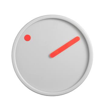 Rosendahl Timepieces - Horloge murale Picto, orange sur gris clair