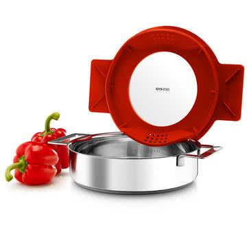 Eva solo - Gravity cuiseur, bas, 24 cm, rouge