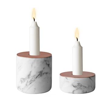 Menu - Chunk of Marble, les deux tailles - avec des bougies